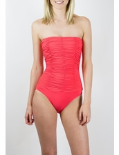 Diva Swimwear Heaven Strapless One Piece - Coral