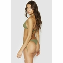 Frankies Bikini's Sky Ribbed Triangle Top - Olive