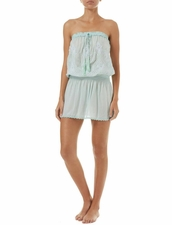 Melissa Odabash Fruley Dress - Mint/White