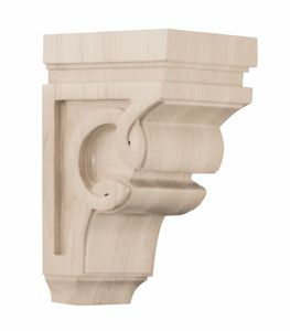 01600627HM1 Carved Wood Celtic Corbel Small Hard Maple