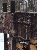 10' Woodhaven Firewood Rack and Camo Cover