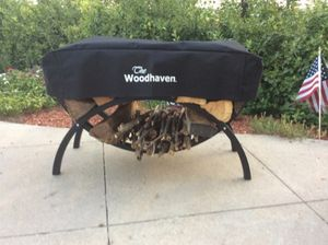 Small Woodhaven Crescent Firewood Rack