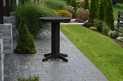 """A & L Furniture - 33"""" Round Bar Table - 4180 - Black Poly"""