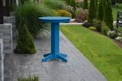 """A & L Furniture - 33"""" Round Bar Table - 4180 - Blue Poly"""