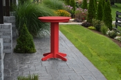 """A & L Furniture - 33"""" Round Bar Table - 4180 - Bright Red Poly"""