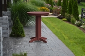 """A & L Furniture - 33"""" Round Bar Table - 4180 - Cherry Poly"""