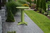 """A & L Furniture - 33"""" Round Bar Table - 4180 - Tropical Lime Green Poly"""