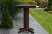 """A & L Furniture - 33"""" Round Bar Table - 4180 - Tudor Brown Poly"""