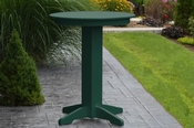 """A & L Furniture - 33"""" Round Bar Table - 4180 - Turf Green Poly"""