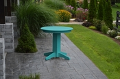 """A & L Furniture - 33"""" Round Dining Table - 4140 - Aruba Blue Poly"""