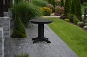"""A & L Furniture - 33"""" Round Dining Table - 4140 - Black Poly"""
