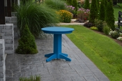 """A & L Furniture - 33"""" Round Dining Table - 4140 - Blue Poly"""