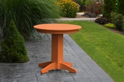 """A & L Furniture - 33"""" Round Dining Table - 4140 - Bright Orange Poly"""