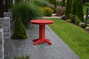 """A & L Furniture - 33"""" Round Dining Table - 4140 - Bright Red Poly"""