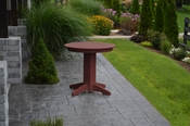 """A & L Furniture - 33"""" Round Dining Table - 4140 - Cherry Poly"""