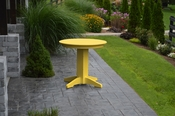 """A & L Furniture - 33"""" Round Dining Table - 4140 - Lemon Yellow Poly"""