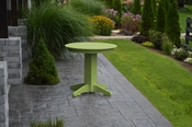 """A & L Furniture - 33"""" Round Dining Table - 4140 - Tropical Lime Green Poly"""
