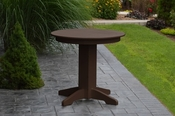 """A & L Furniture - 33"""" Round Dining Table - 4140 - Tudor Brown Poly"""