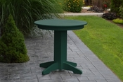 """A & L Furniture - 33"""" Round Dining Table - 4140 - Turf Green Poly"""