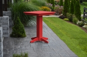 """A & L Furniture - 33"""" Square Bar Table - 4190 - Bright Red Poly"""