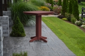 """A & L Furniture - 33"""" Square Bar Table - 4190 - Cherry Poly"""
