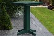 """A & L Furniture - 33"""" Square Bar Table - 4190 - Turf Green Poly"""