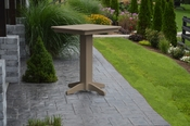 """A & L Furniture - 33"""" Square Bar Table - 4190 - Weathered Wood Poly"""