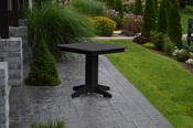 """A & L Furniture - 33"""" Square Dining Table - 4150 - Black Poly"""