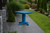 """A & L Furniture - 33"""" Square Dining Table - 4150 - Blue Poly"""