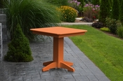 """A & L Furniture - 33"""" Square Dining Table - 4150 - Bright Orange Poly"""