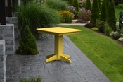 """A & L Furniture - 33"""" Square Dining Table - 4150 - Lemon Yellow Poly"""