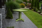 """A & L Furniture - 33"""" Square Dining Table - 4150 - Tropical Lime Green Poly"""