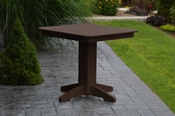 """A & L Furniture - 33"""" Square Dining Table - 4150 - Tudor Brown Poly"""