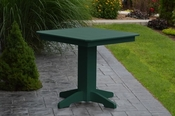 """A & L Furniture - 33"""" Square Dining Table - 4150 - Turf Green Poly"""