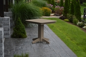 """A & L Furniture - 33"""" Square Dining Table - 4150 - Weathered Wood Poly"""