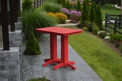 A & L Furniture - 4' Bar Table - 5100 - Bright Red Poly