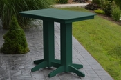 A & L Furniture - 4' Bar Table - 5100 - Turf Green Poly