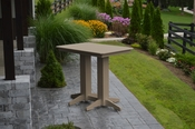 A & L Furniture - 4' Bar Table - 5100 - Weathered Wood Poly