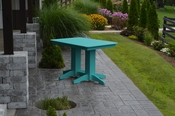 A & L Furniture - 4' Dining Table - 4160 - Aruba Blue Poly