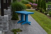 A & L Furniture - 4' Dining Table - 4160 - Blue Poly