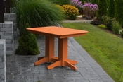 A & L Furniture - 4' Dining Table - 4160 - Bright Orange Poly