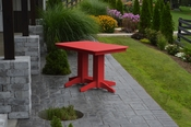 A & L Furniture - 4' Dining Table - 4160 - Bright Red Poly