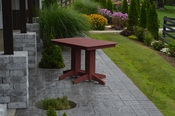 A & L Furniture - 4' Dining Table - 4160 - Cherry Poly
