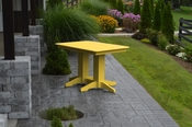 A & L Furniture - 4' Dining Table - 4160 - Lemon Yellow Poly
