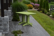 A & L Furniture - 4' Dining Table - 4160 - Tropical Lime Green Poly