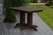 A & L Furniture - 4' Dining Table - 4160 - Tudor Brown Poly