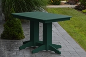 A & L Furniture - 4' Dining Table - 4160 - Turf Green Poly