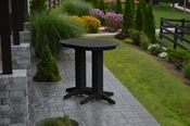 A & L Furniture - 4' Oval Bar Table - 5110 - Black Poly