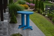 A & L Furniture - 4' Oval Bar Table - 5110 - Blue Poly