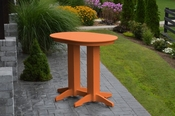 A & L Furniture - 4' Oval Bar Table - 5110 - Bright Orange Poly